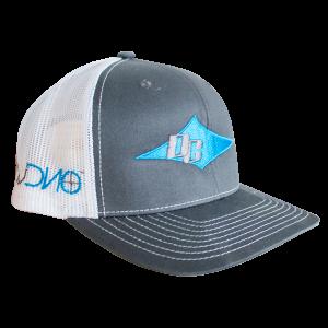 DC Hat - White, Teal, Gray
