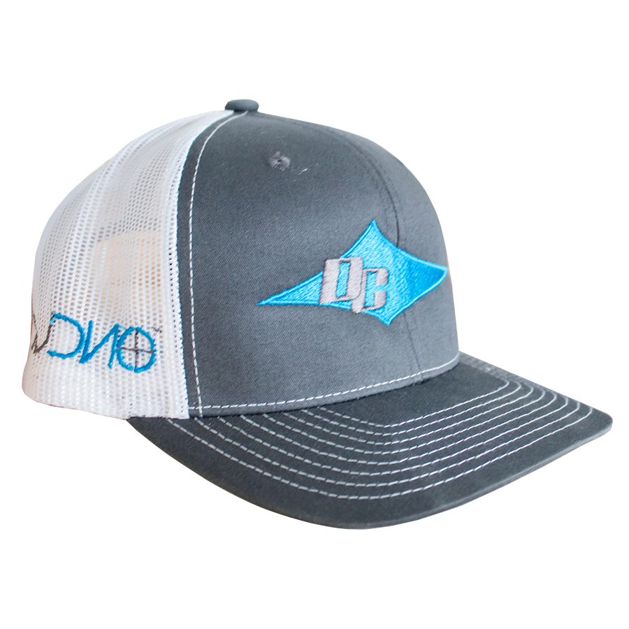 DC Hat - White, Teal, Gray