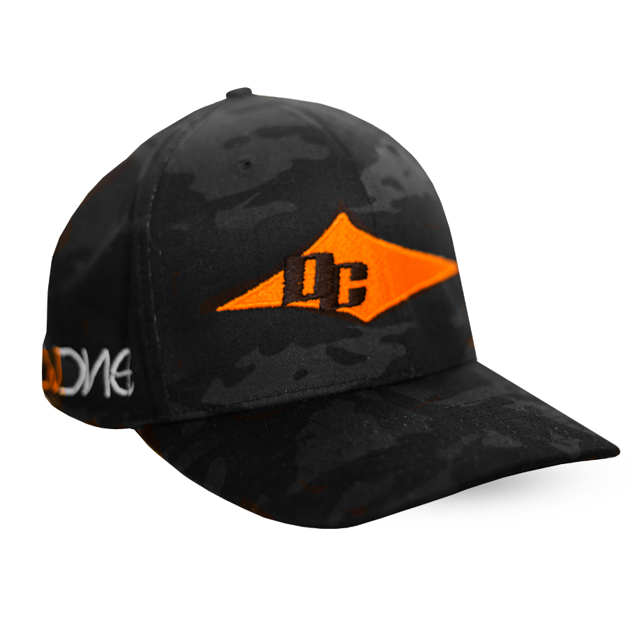 DC Hat - Charcoal Camo & Orange